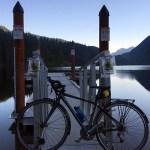 Hiking and biking at Buntzen Lake near Anmore RV park