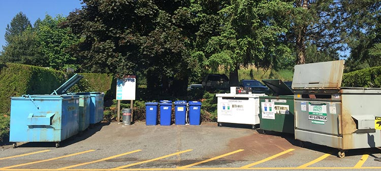 Review of the Burnaby Cariboo RV Park. There is a very well-organized recycling and garbage station, including a large composting bin