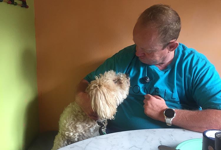 What Can You Do When Your RV is Having Repairs? I bonded with Pesto, a puppy in a 12-year-old body. He liked to hop up next to me at the breakfast table