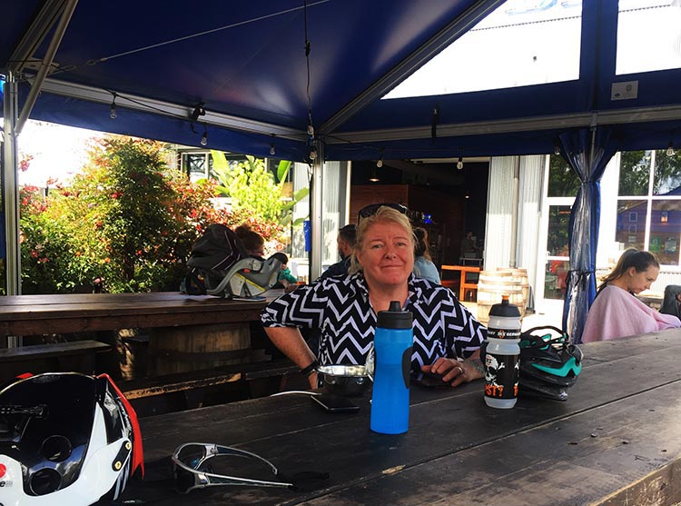 What Can You Do When Your RV is Having Repairs? Maggie at the Fremont Brewing company. Here there is a great selection of local beers and ciders, but no food