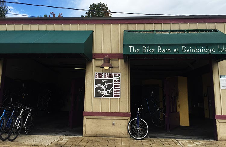 What Can You Do When Your RV is Having Repairs? You can rent a bike right next to the Bainbridge Island ferry terminal