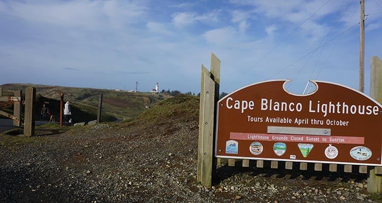 Our Experience of RV Camping at Beverly Beach and Humbug Mountain State Parks, Oregon Coast. As Cape Blanco Lighthouse was closed for the winter, we had to hike a fair way to go and see it