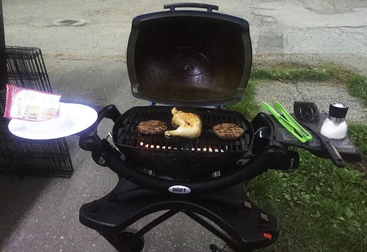 Best Barbecue for RV Living – Weber Q1200 Review. The side plates on the Weber hold a surprising amount of items