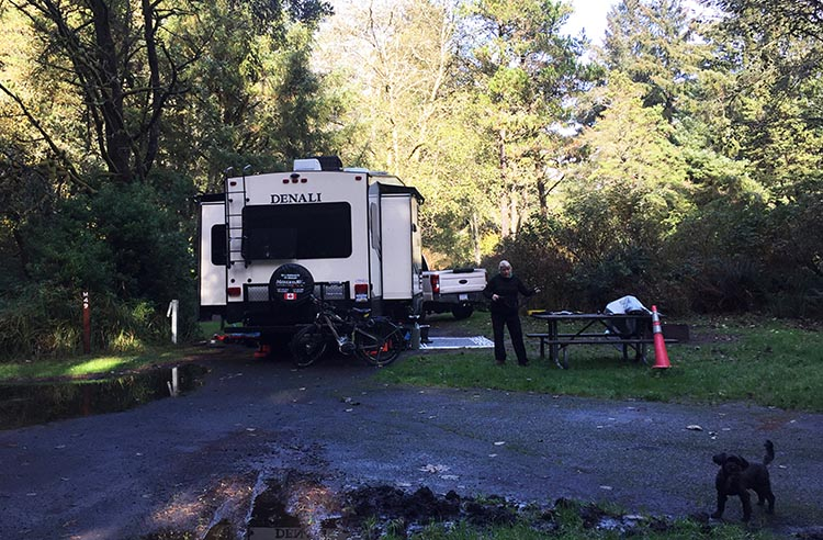 Review of Fort Stevens State Park, Northern Oregon Coast. Our spacious site at Fort Stevens