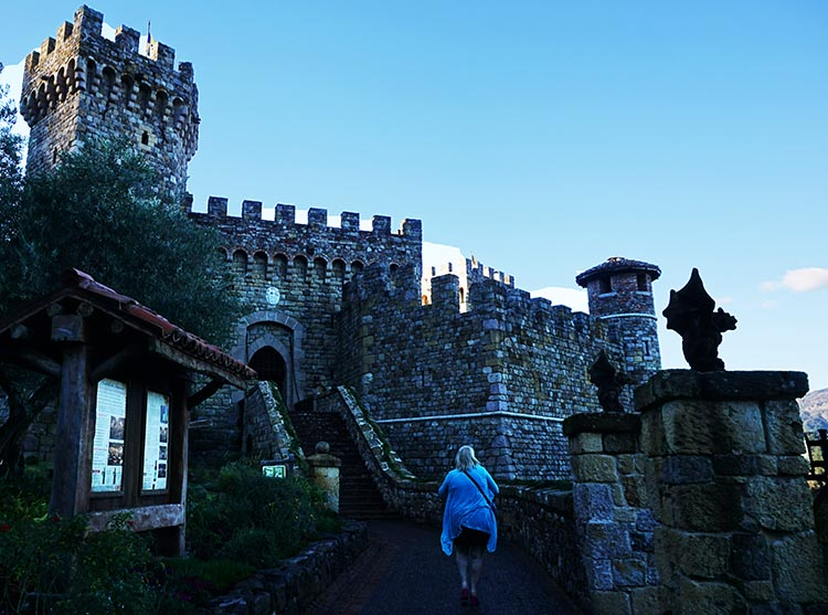 "Winery Tours in Calistoga, Napa Valley, California. Thanks to Calistoga's Winter in the Wineries Passport, we had many great ""wine experiences,"" including our visit to the Castello di Amorosa, an enormous, authentic Tuscan castle - in California!"