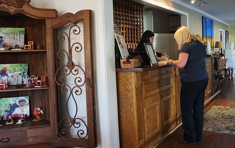 Winery Tours in Calistoga, Napa Valley, California. Wine tasting at the Maldonado Family Vineyards, Lincoln Avenue, Calistoga