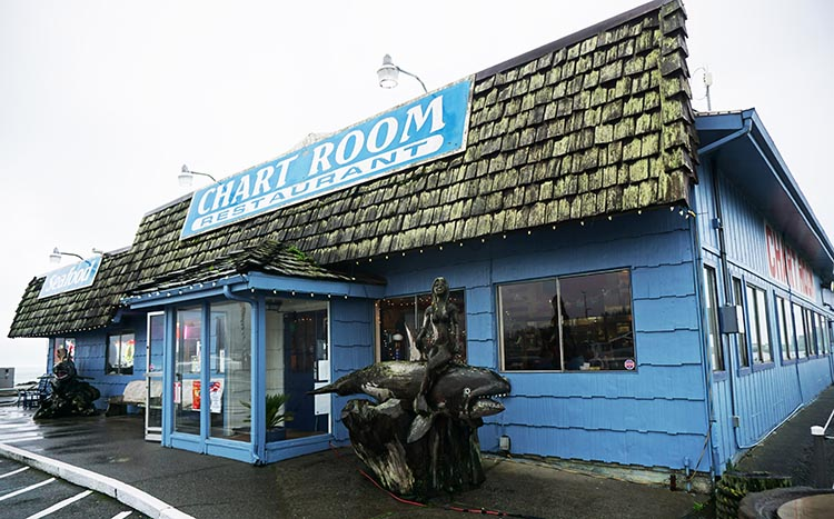 The interesting exterior of the Chart Room Restaurant