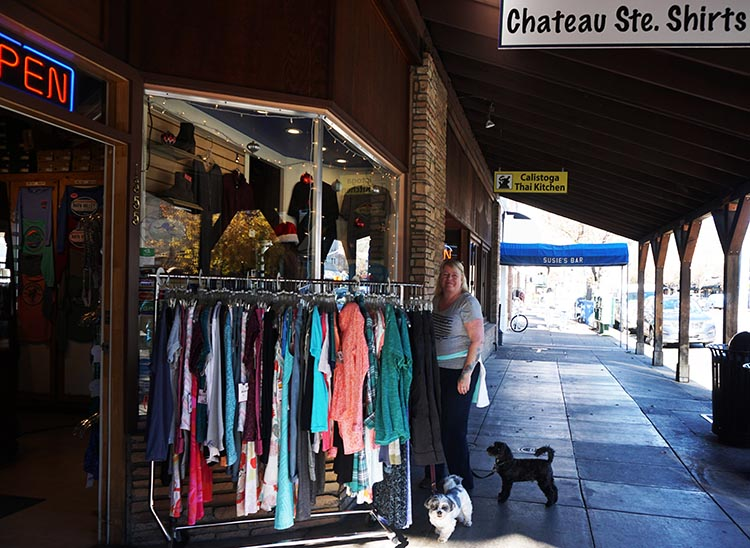 There are numerous small specialty stores in Calistoga selling things such as clothing
