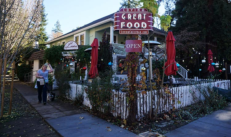 There is great food everywhere in Calistoga!