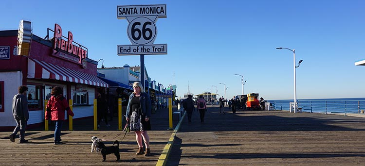 RV Camping in California. The End of Route 66 is at the Santa Monica Pier