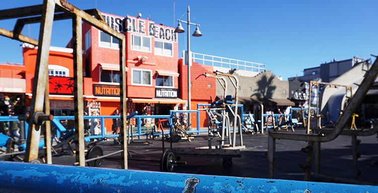 RV Camping in California. Muscle Beach!
