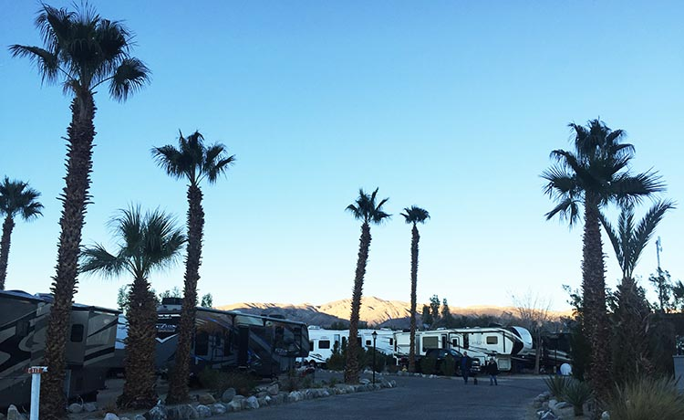 RV Camping in California. Rigs parked at Catalina Spa RV Park