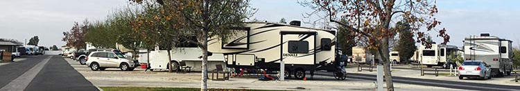 Review of A Country RV Park, Bakersfield, California. Our Denali fifth wheel in our pull-through site at A Country RV Resort