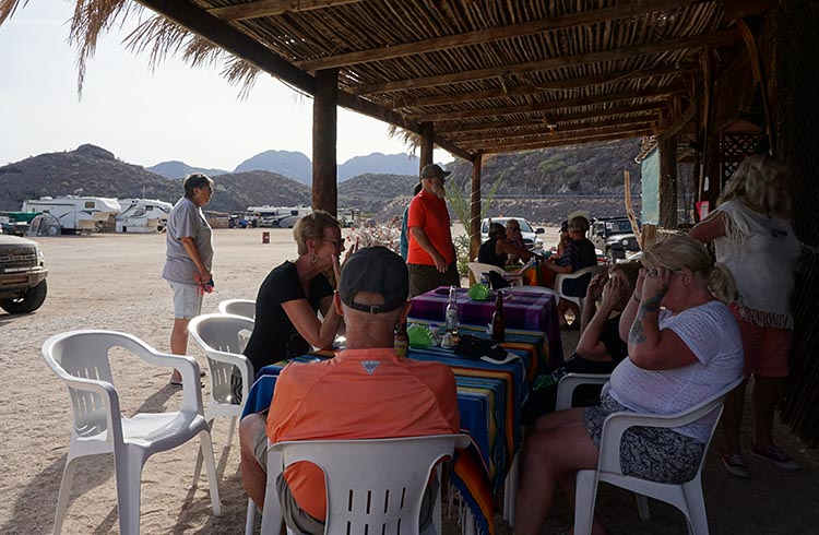 Day 5 of our RV Trip with Baja Winters: San Ignacio to Santispac Beach, Bahía de Concepción, Baja California Sur, Mexico. After we got to Santispac Beach, we enjoyed a meal and drinks at Armando's Restaurant
