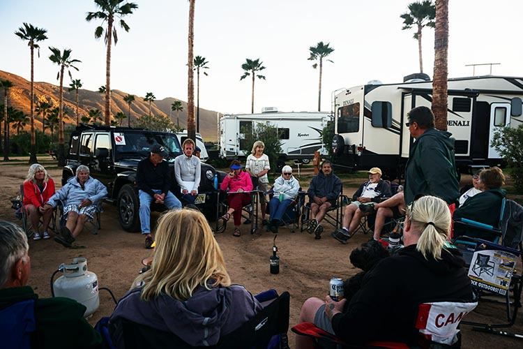 RV Baja California. Our group meeting at the Sordo Mudo RV Park in the Guadalupe Valley, Baja California, Mexico