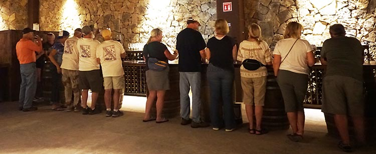 RV Baja California. Our group enjoying wine tasting at El Cielo winery in the Guadalupe Valley