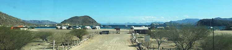 Day 5 of our RV Trip with Baja Winters: San Ignacio to Santispac Beach, Bahía de Concepción, Baja California Sur, Mexico. This is what we saw as we arrived at Santispac Beach