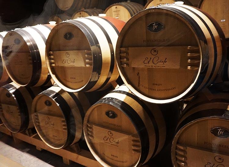 RV Baja California. Wine barrels at the El Cielo Winery in the Guadalupe Valley, Baja California