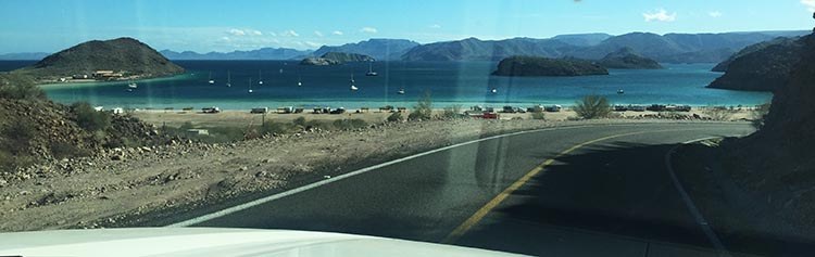 This is the view as you come down the mountain on Highway 1 and get closer to Santispac Beach