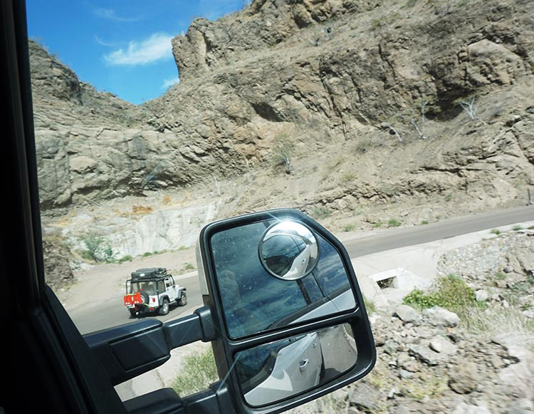 The road to San Javier is very mountainous and challenging