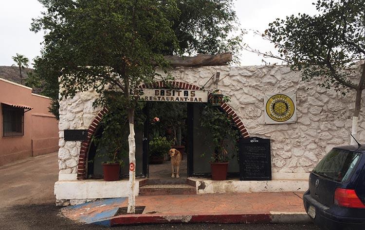This is the Las Casitas restaurant in Muleje, Baja California Sur