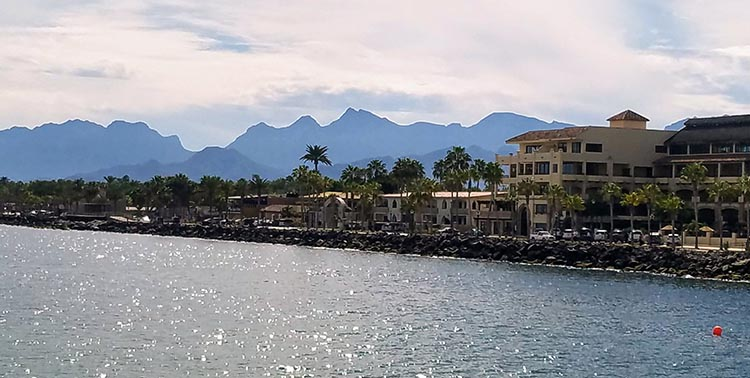 Loreto as seen from the water - Photo by Juli Cooley