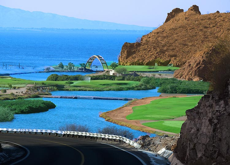 The Loreto Bay Golf Course is beautifully landscaped