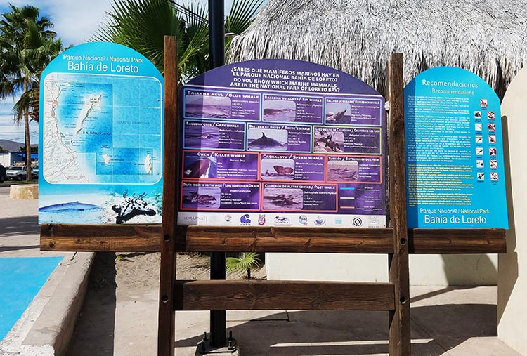 Bay of Loreto National Park sign - Photo by Juli Cooley