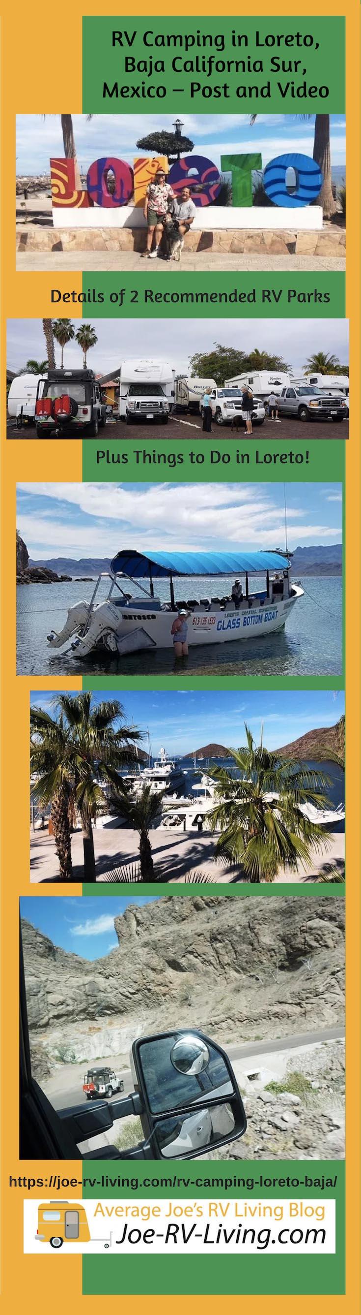 RV Camping in Loreto, Baja California Sur, Mexico - Post and Video