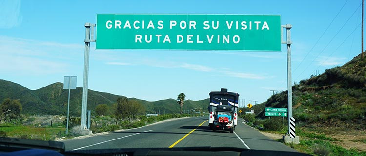 """After we left Sordo Mudo, we soon saw the sign that said """"Thanks for your visit to the Wine Route."""" A bittersweet moment ..."""