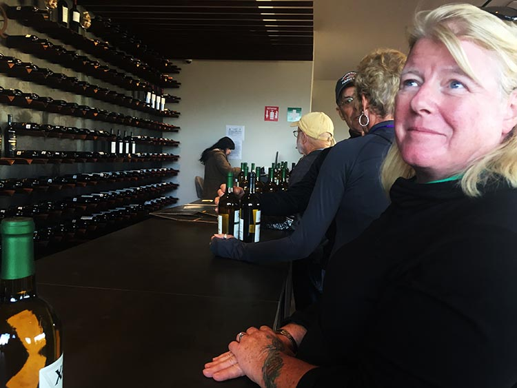 Unsurprisingly, we were happy to spend money on wine after our wine tour at Domecq