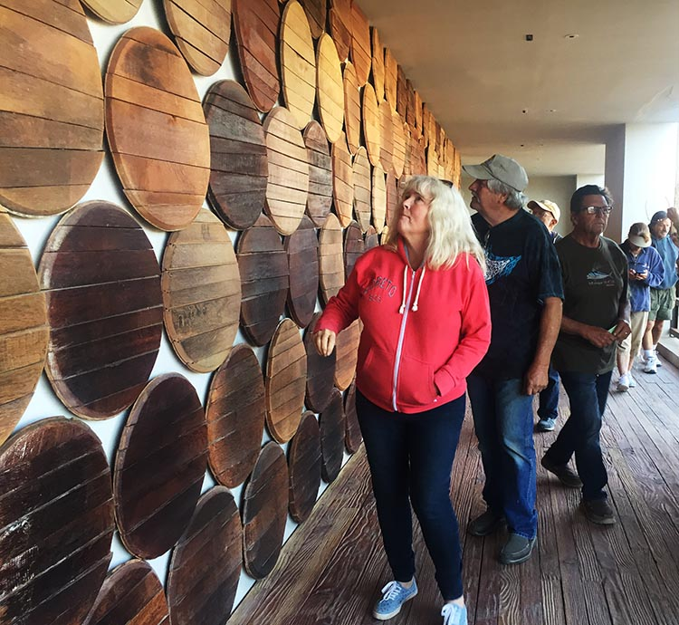 Here are Kathy and Jerry on the wine tour at Domecq