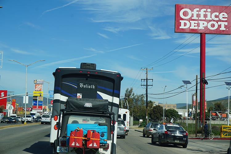 Our Return RV Caravan Trip from Baja California: Santispac Beach to Tecate. The traffic through Ensenada was challenging