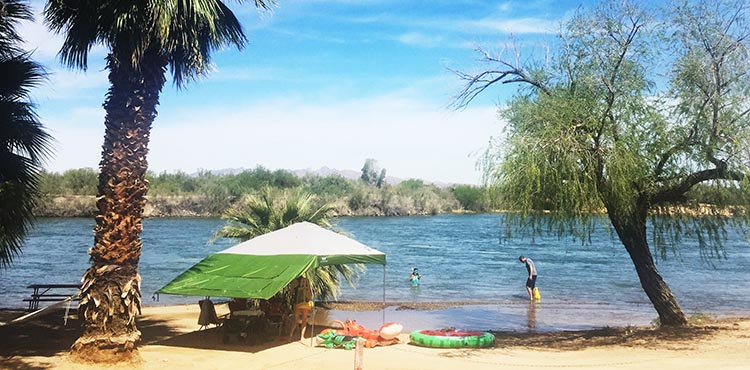 Even in March, some people braved the cold Colorado River