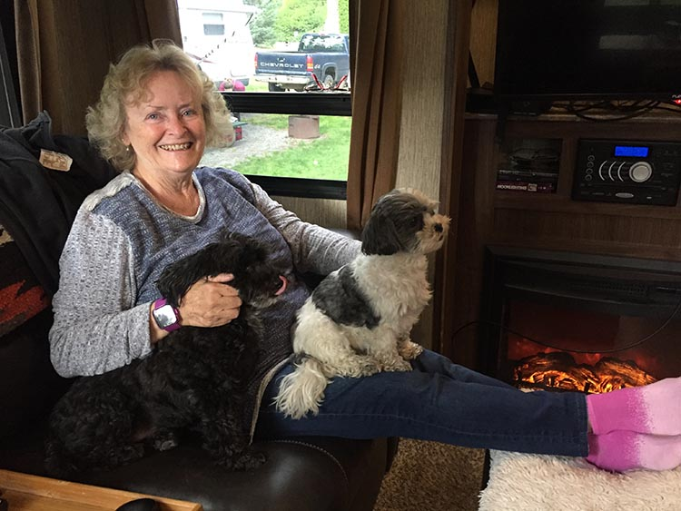 Lorraine visited and spent some good quality time with us and the dogs!