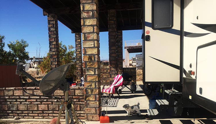 The covered ramada on our site gave us plenty of space for outdoor living