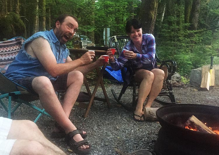 How to Become a Workamper – a Complete Guide to Work Camping. Two of the great new friends we made while workamping, Trent and Keri from Alberta