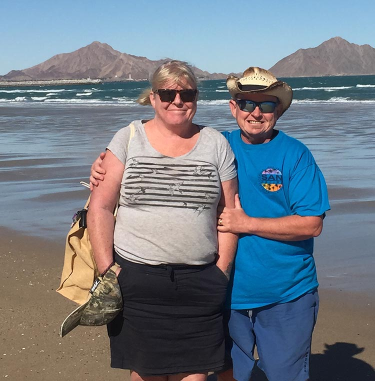 Here we are at one of the best swimming beaches in San Felipe. This one is just past the marina in San Felipe. Unfortunately, it was too cold to swim in December