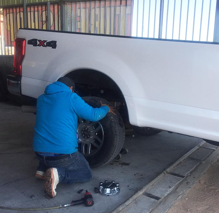 Joe got some tire help at Jorge's Tire Shop for a very good price