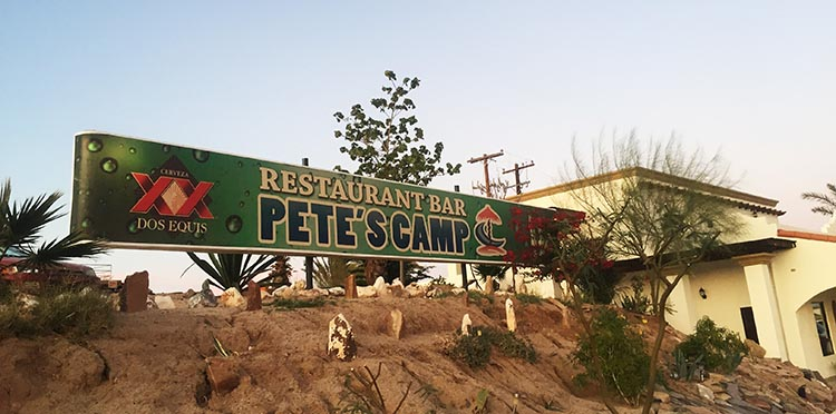 Petes camp is our favorite beach bar near El Dorado Ranch