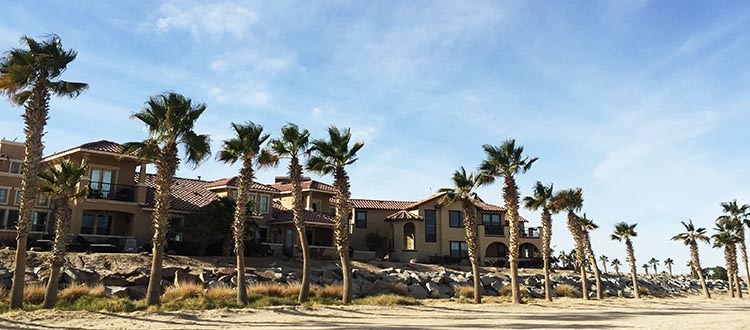The beachfront condos in the Ventana del Mar neighborhood of Eldorado Ranch