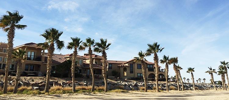 The beachfront condos in the Ventana del Mar neighborhood of Eldorado Ranch