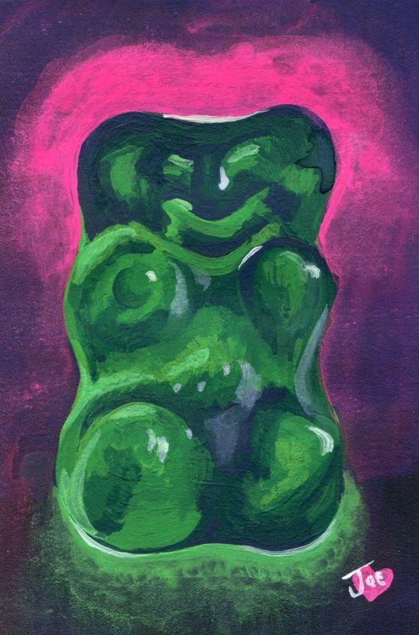 Green Gummy Bear Number 02