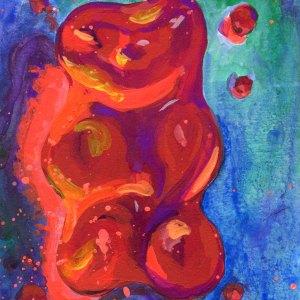 Red Gummy Bear Number 03