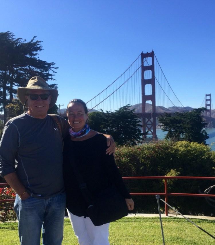 San Francisco, CA. The Golden Gate Bridge in the background.