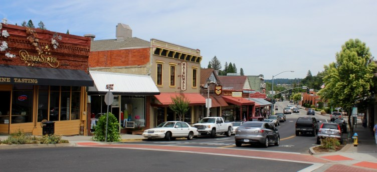 The historic town of Grass Valley, CA.