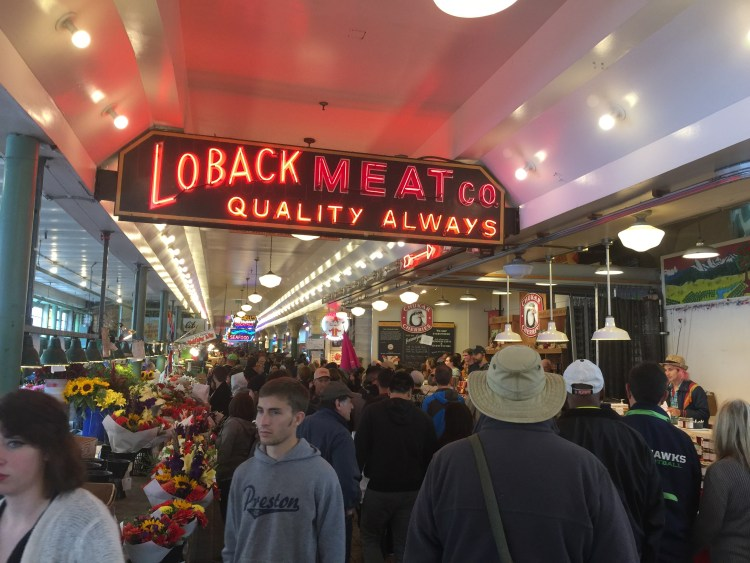 The market is one of the most popular attraction in Seattle.