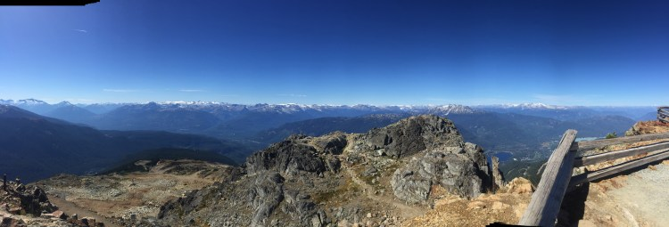 Panoramic view from the top.