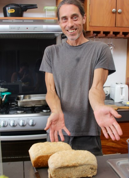 Our friend Mark used our oven in exchange for one of his delicious loaf of bread!