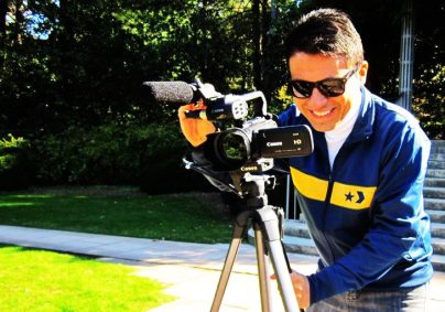 Jesús Hidalgo filming